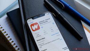 Wattpad app on iPhone