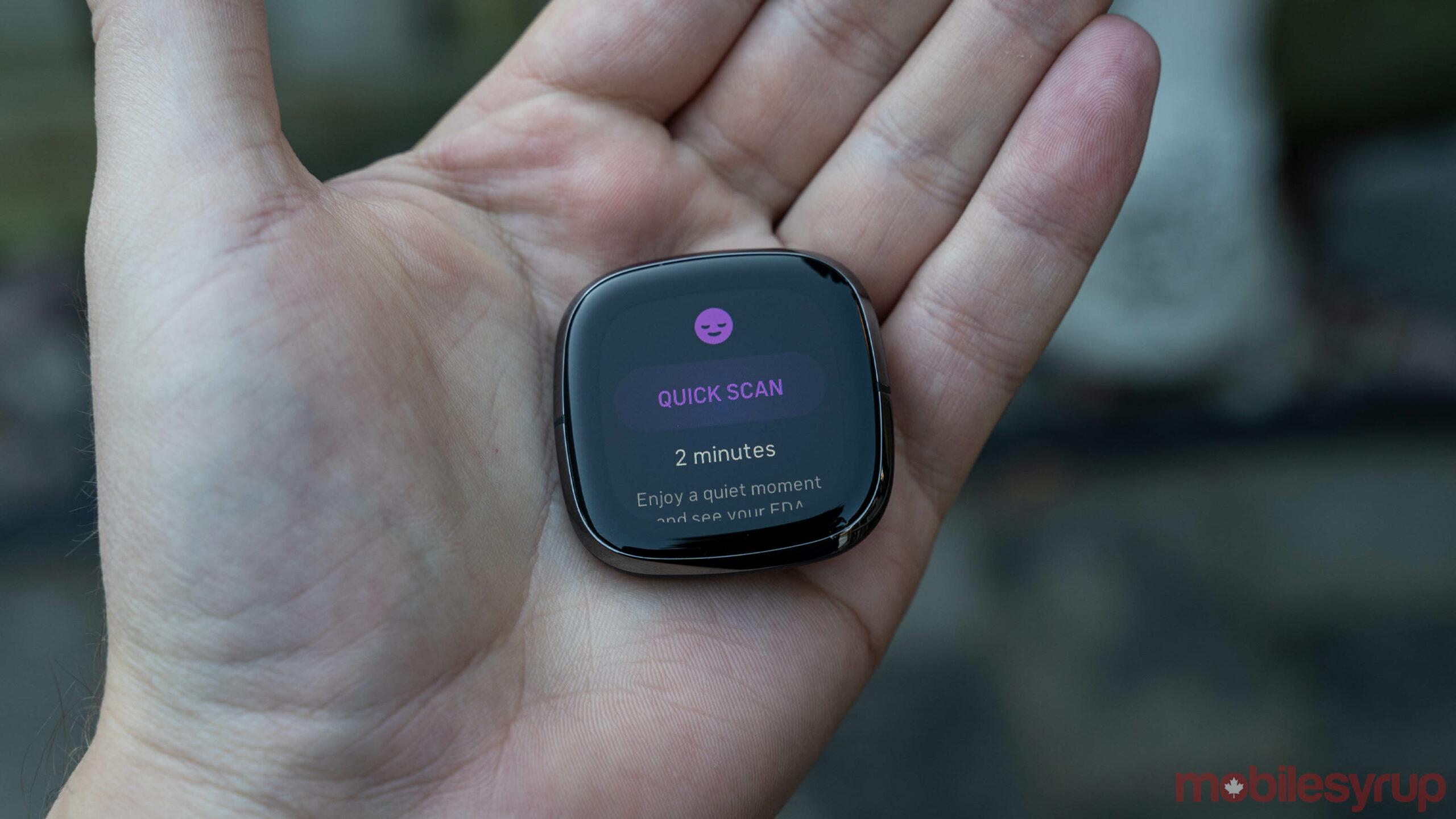 Fitbit Sense EDA scan