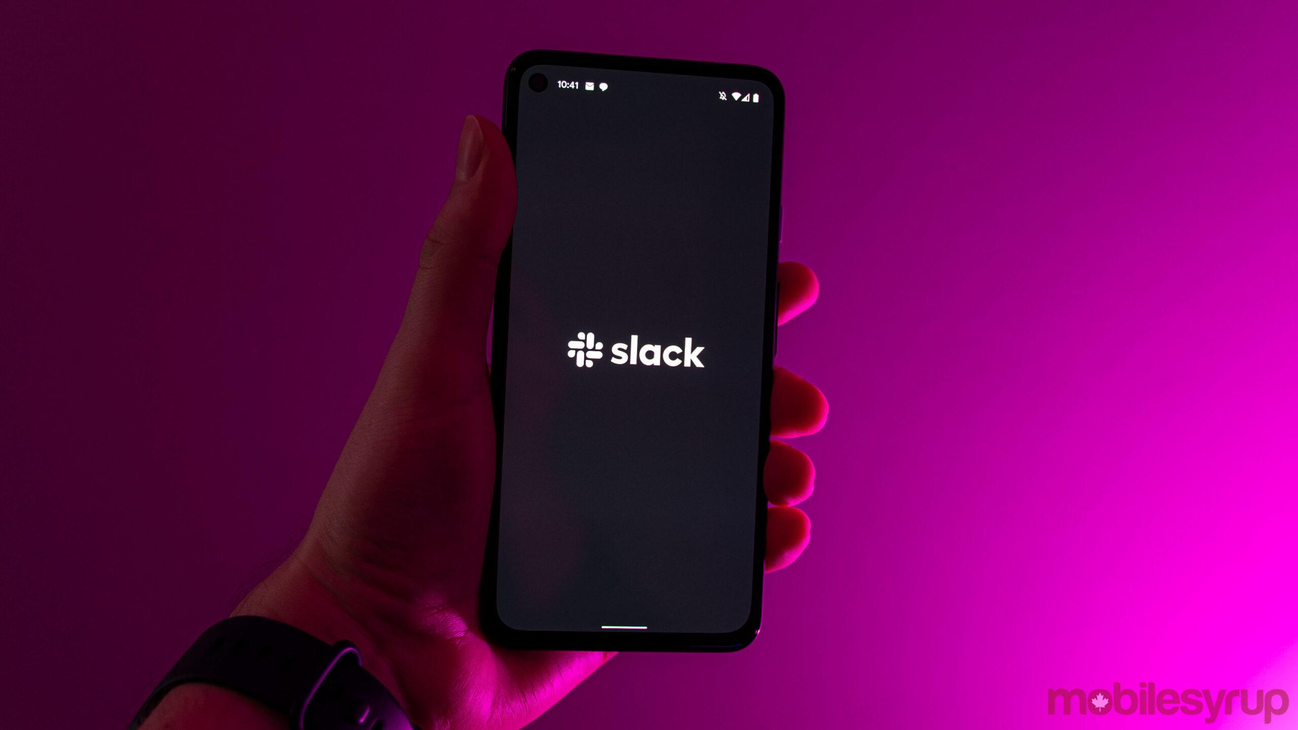 Slack logo on Android
