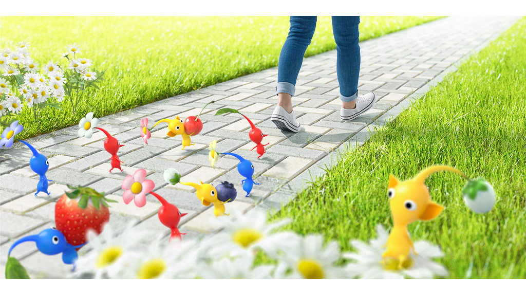 Poster of Niantic and Nintendo's upcoming Pikmin-themed game.