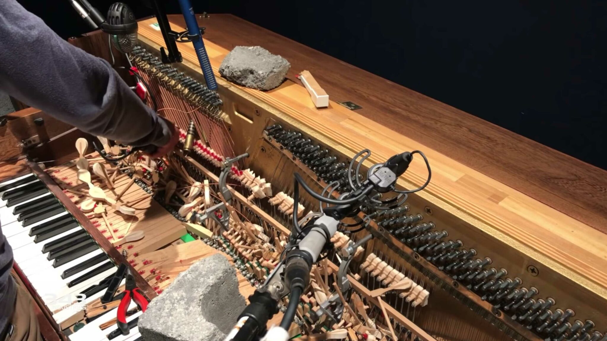 Watch Halo developers destroy a piano to create incredibly visceral sounds