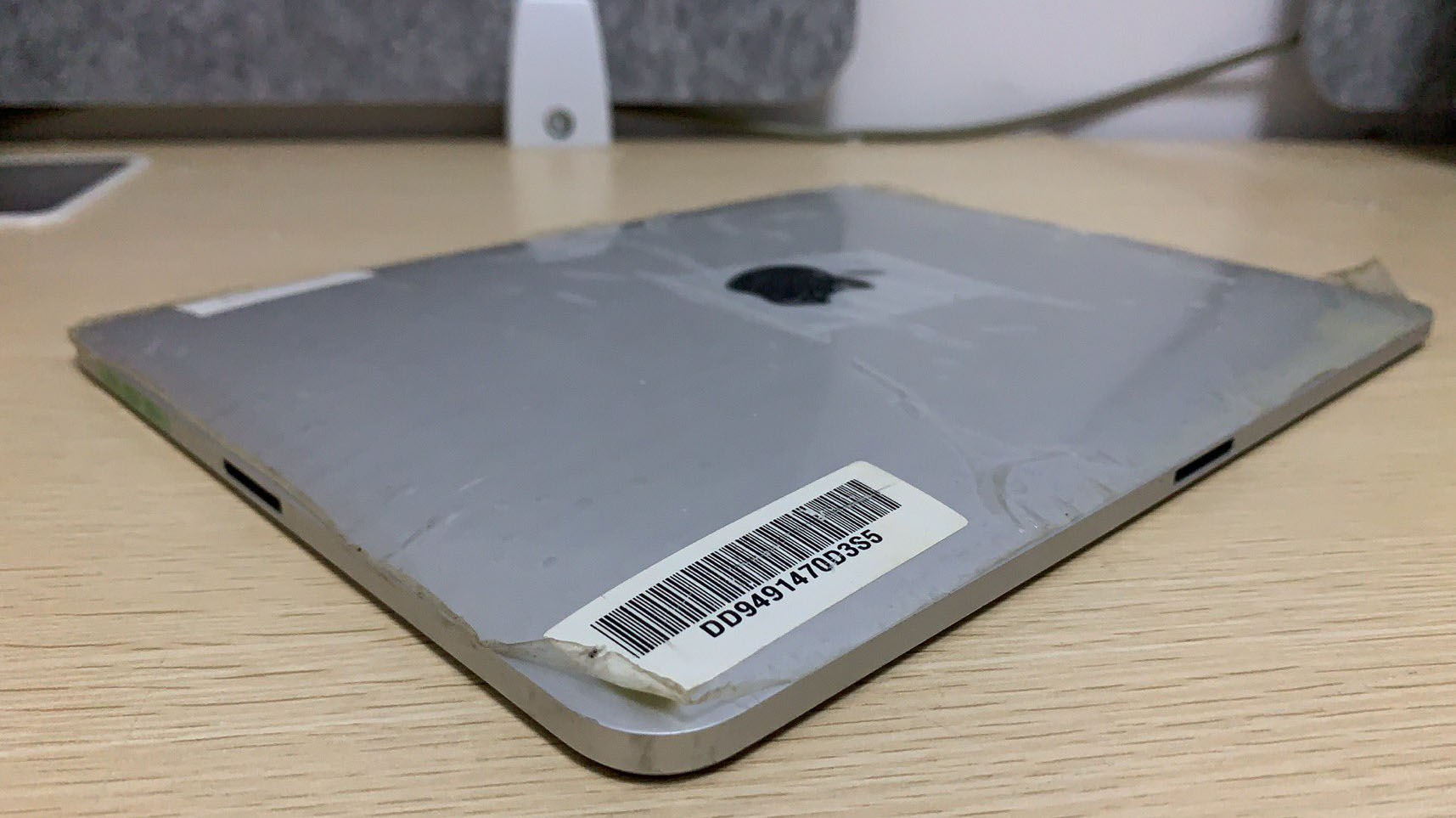 iPad prototype with two charging ports