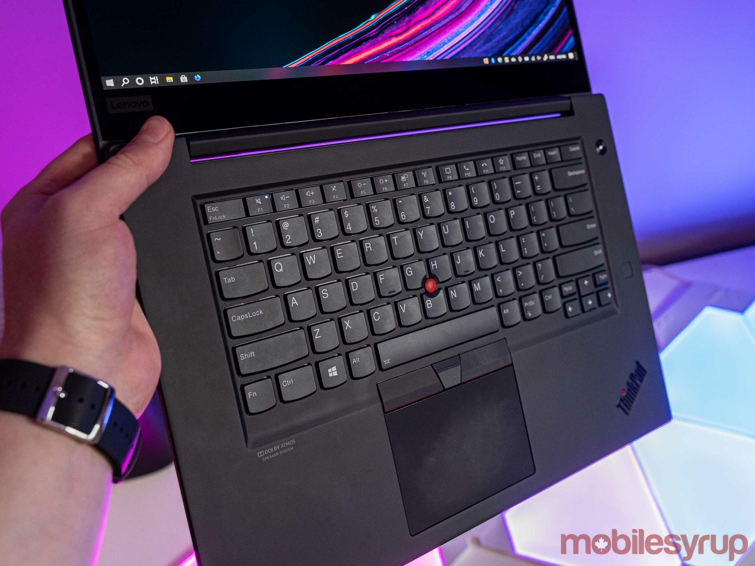 ThinkPad X1 Extreme keyboard