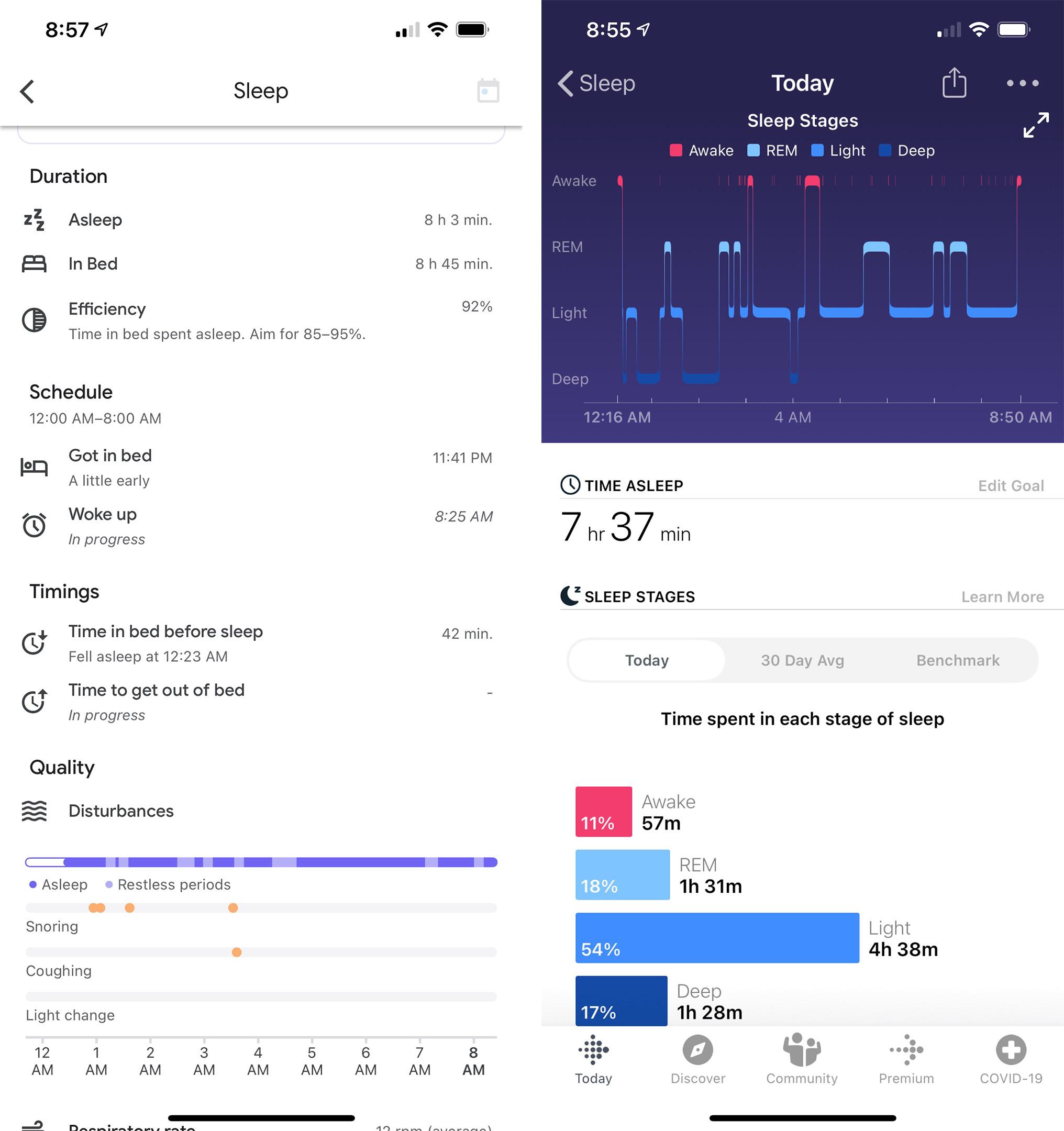 Nest Hub (2021) vs the Fitbit Versa 2