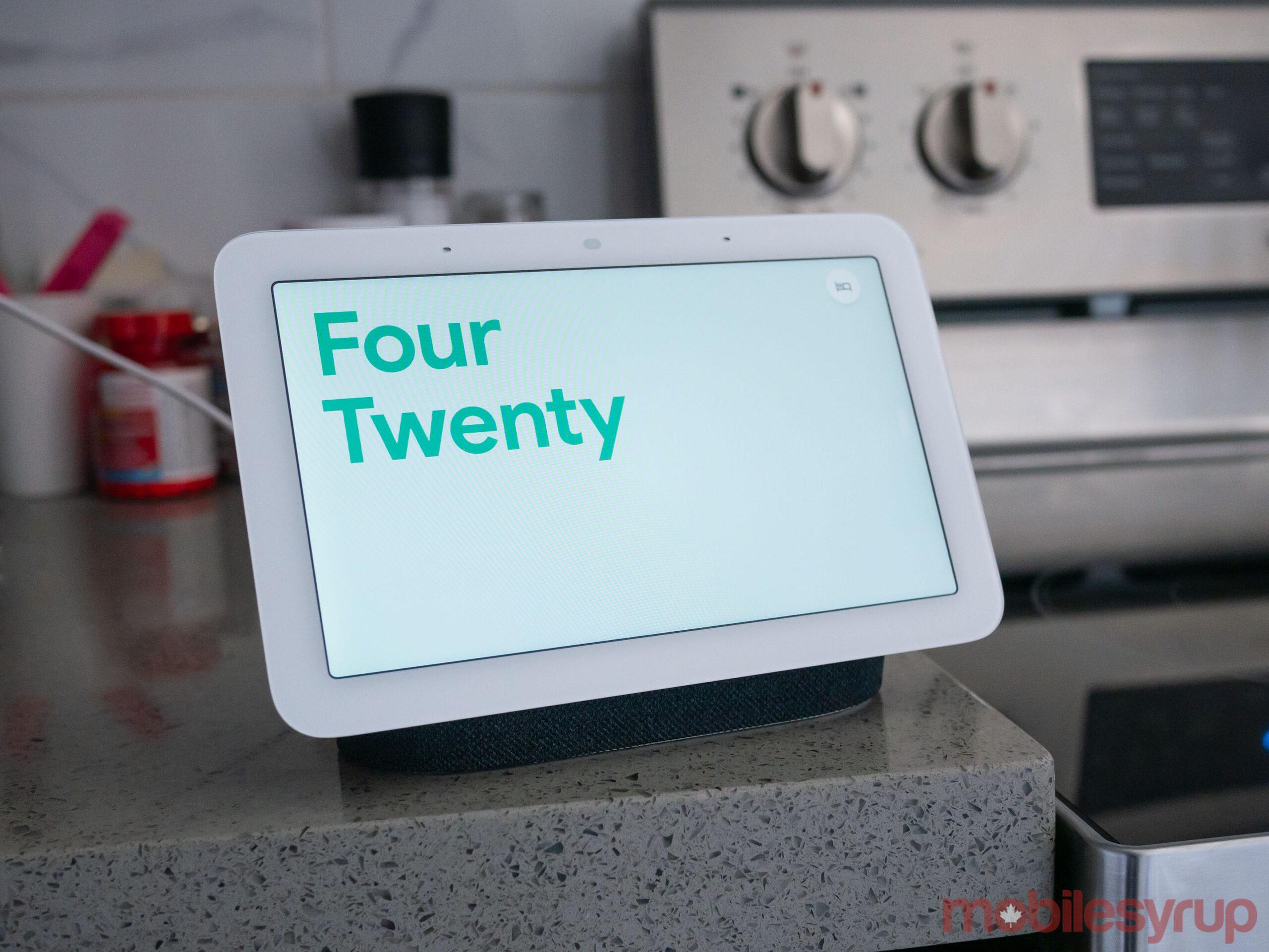 Nest Hub (2021) in kitchen