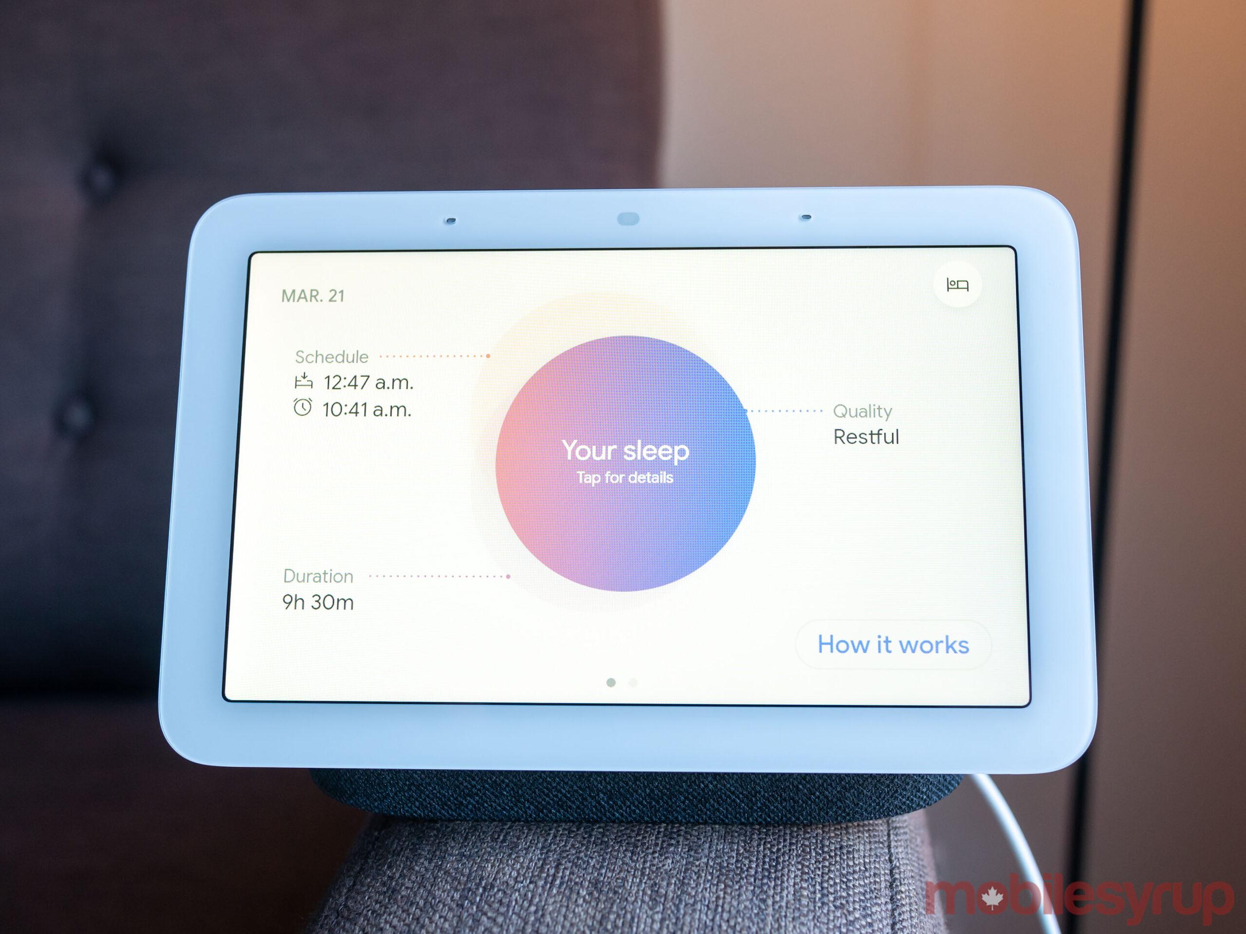 Nest Hub (2021) sleep tracking