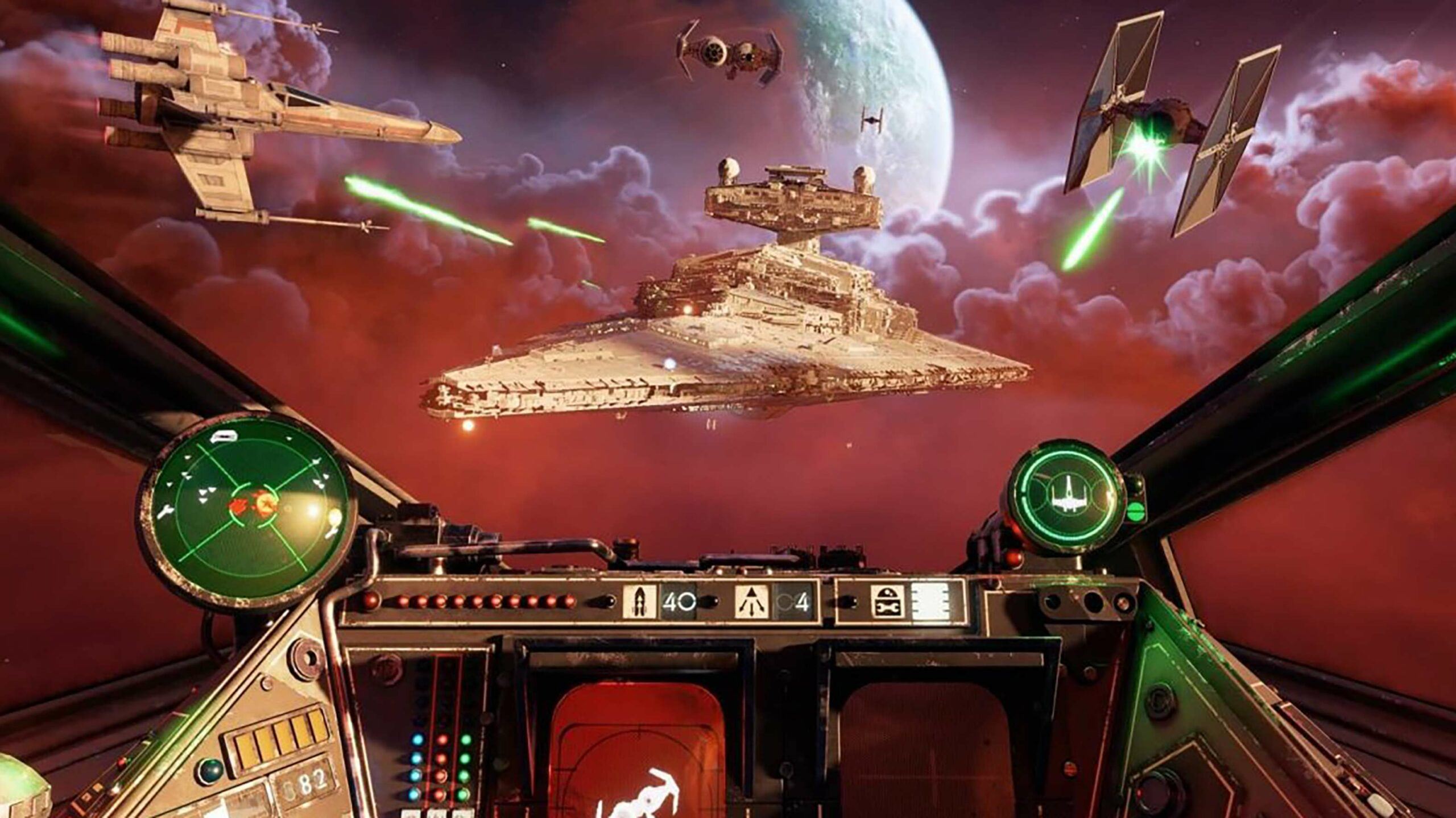 Star Wars: Squadrons cockpit