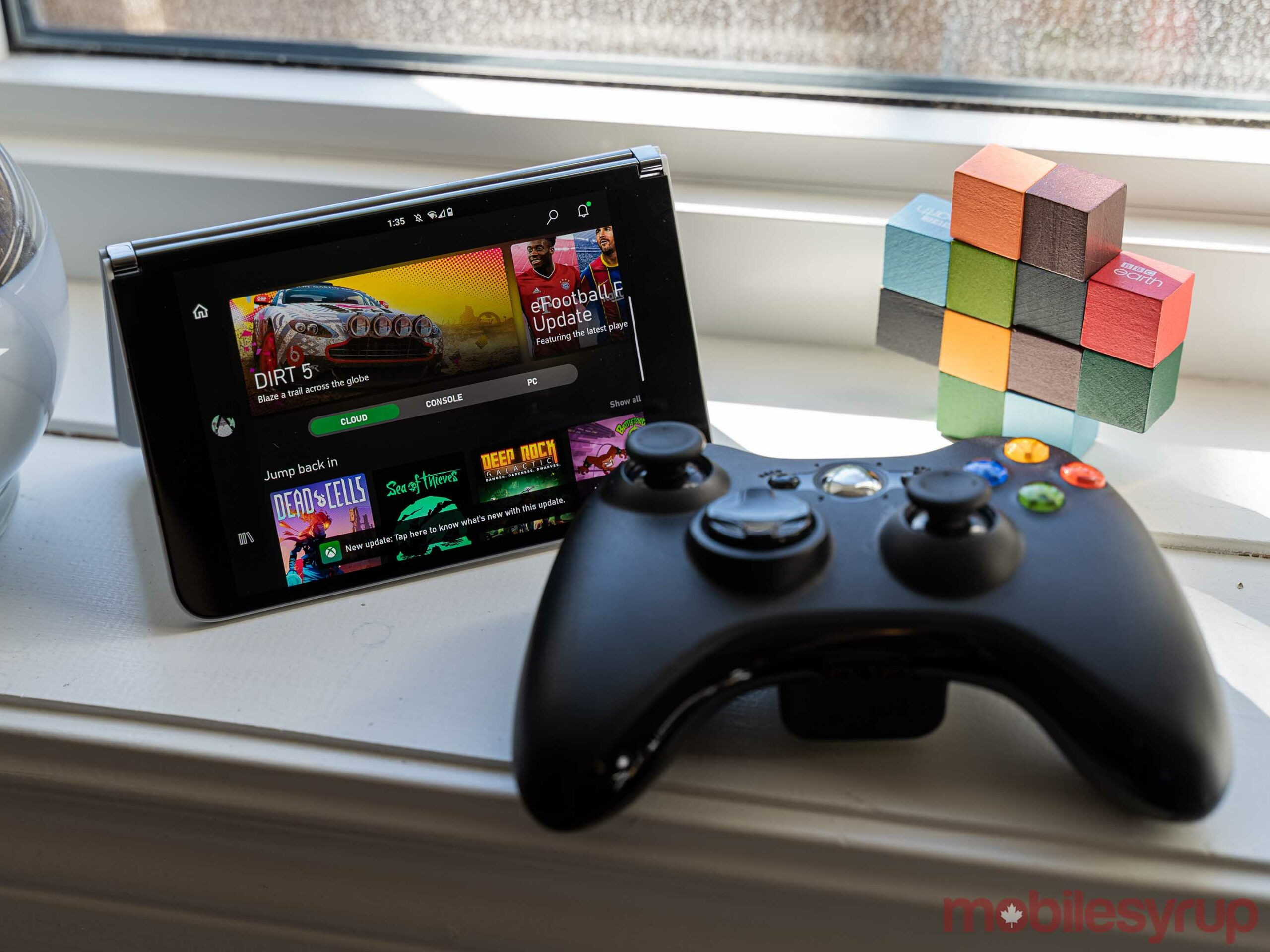 Surface Duo with Xbox controller