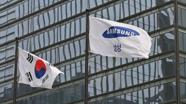 Samung and South Korea's flag