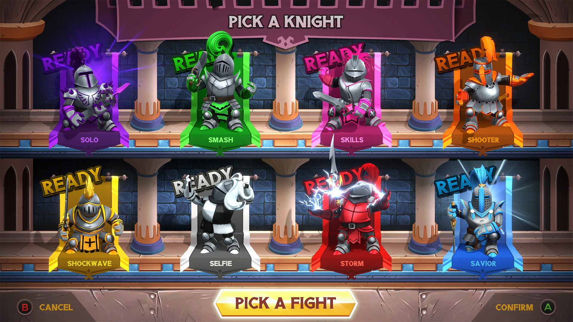 Knight Squad knight selection