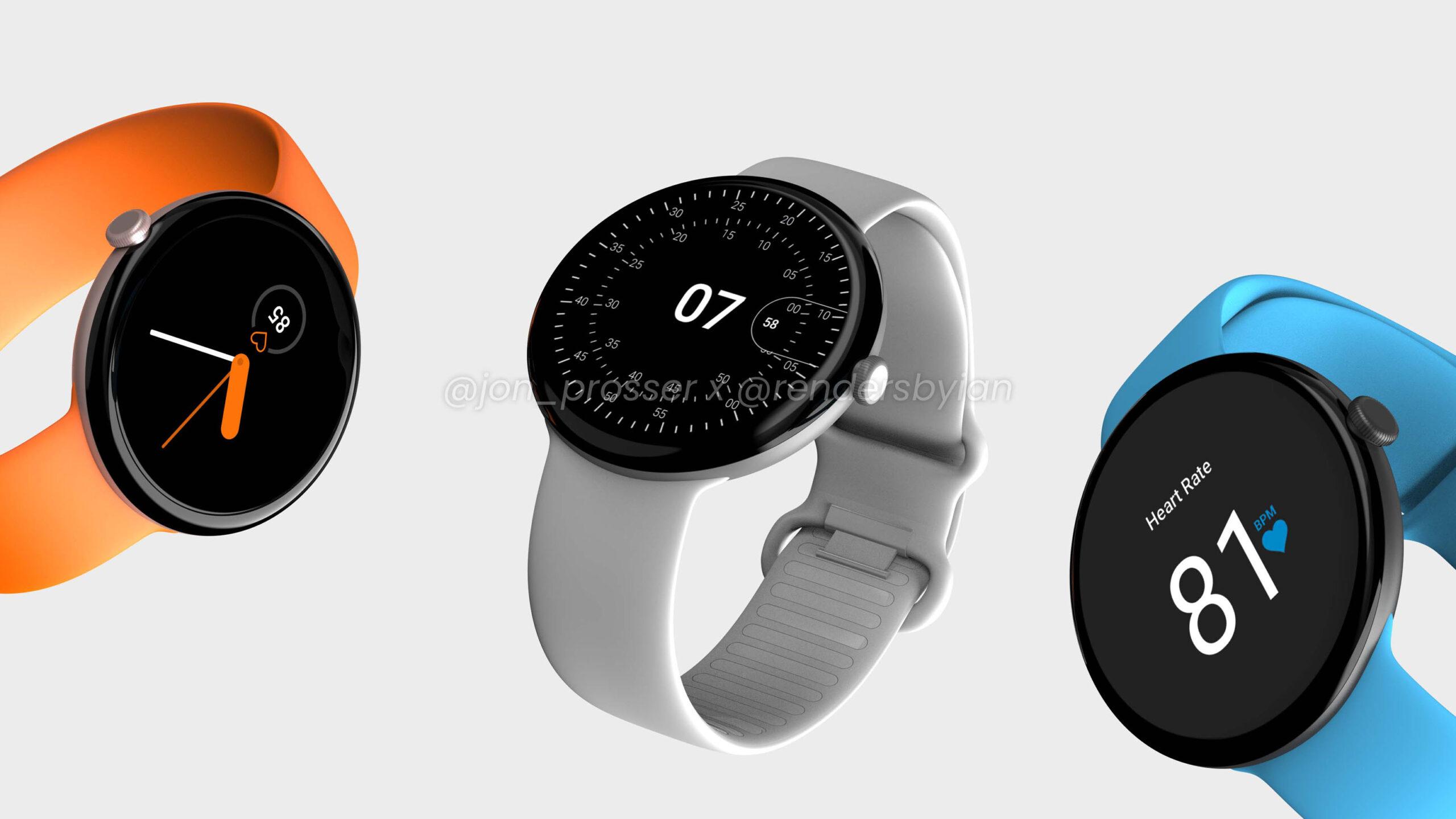 Pixel Watch renders