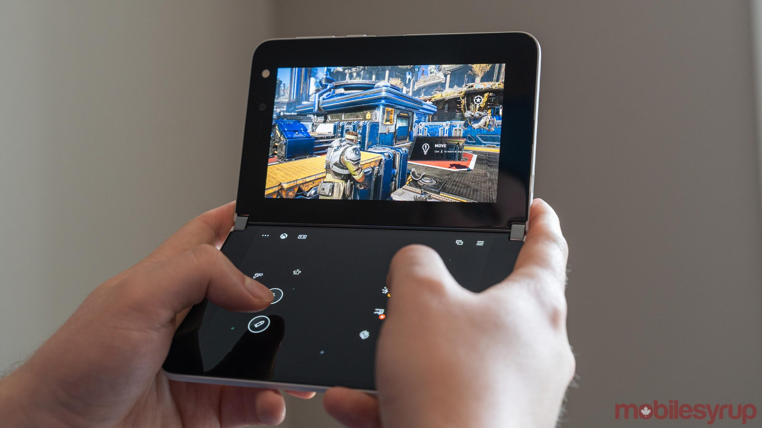 Surface Duo second-screen touch controls