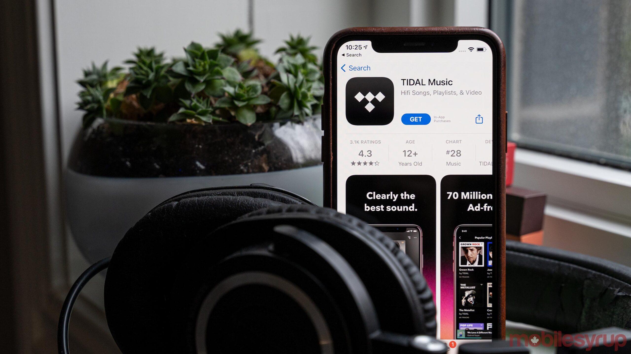 Tidal app on iOS