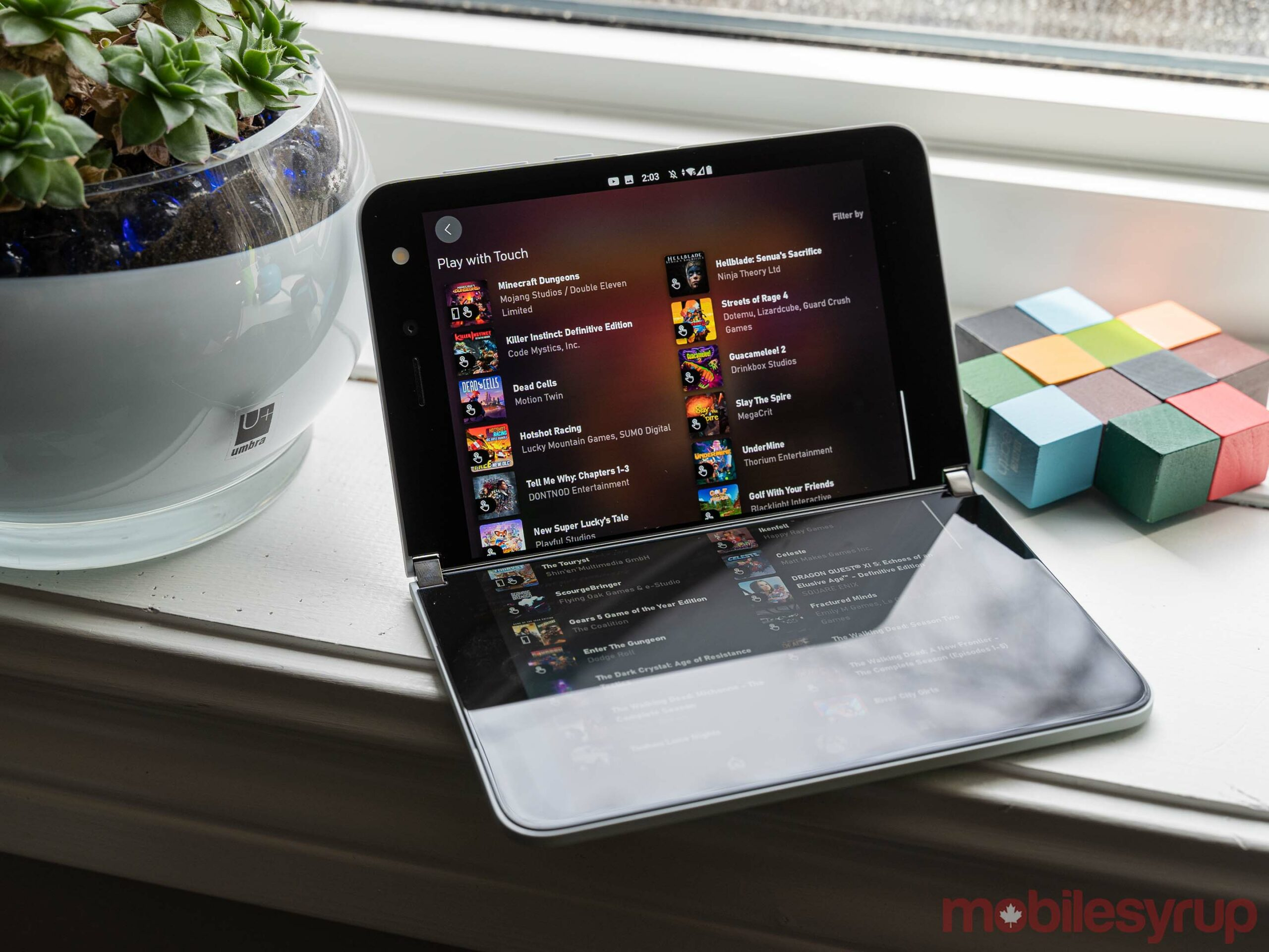 xCloud touch controls work better on Surface Duo, but they're still touch controls