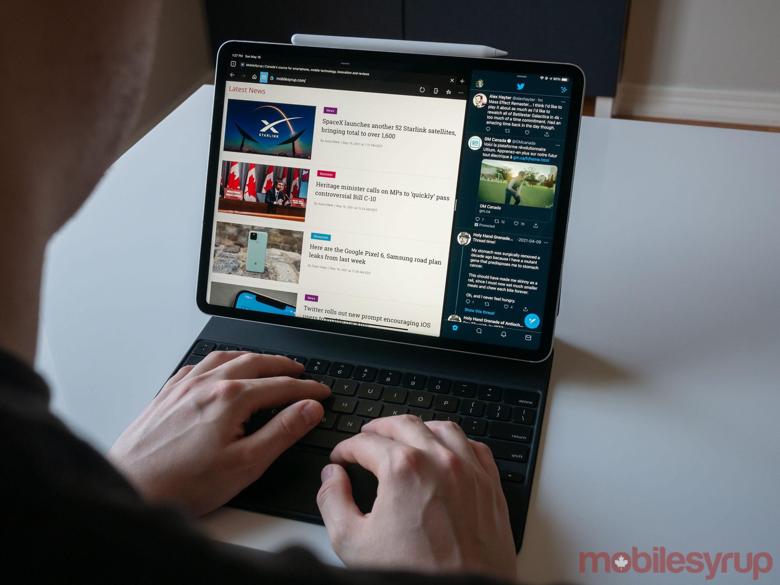 12.9-inch iPad Pro (2021) with Magic Keyboard