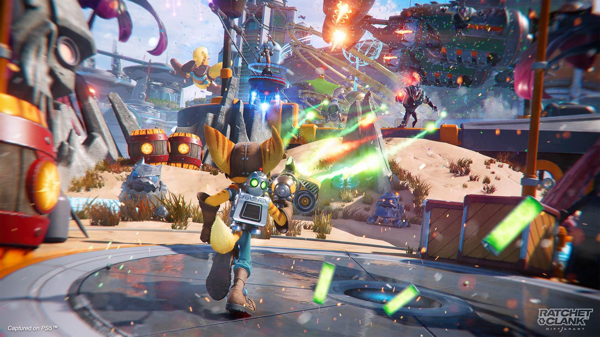 Ratchet & Clank: Rift Apart combat