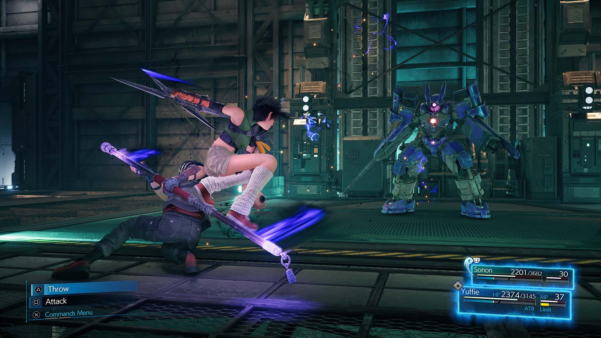 Final Fantasy VII Remake Yuffie and Sonon combat