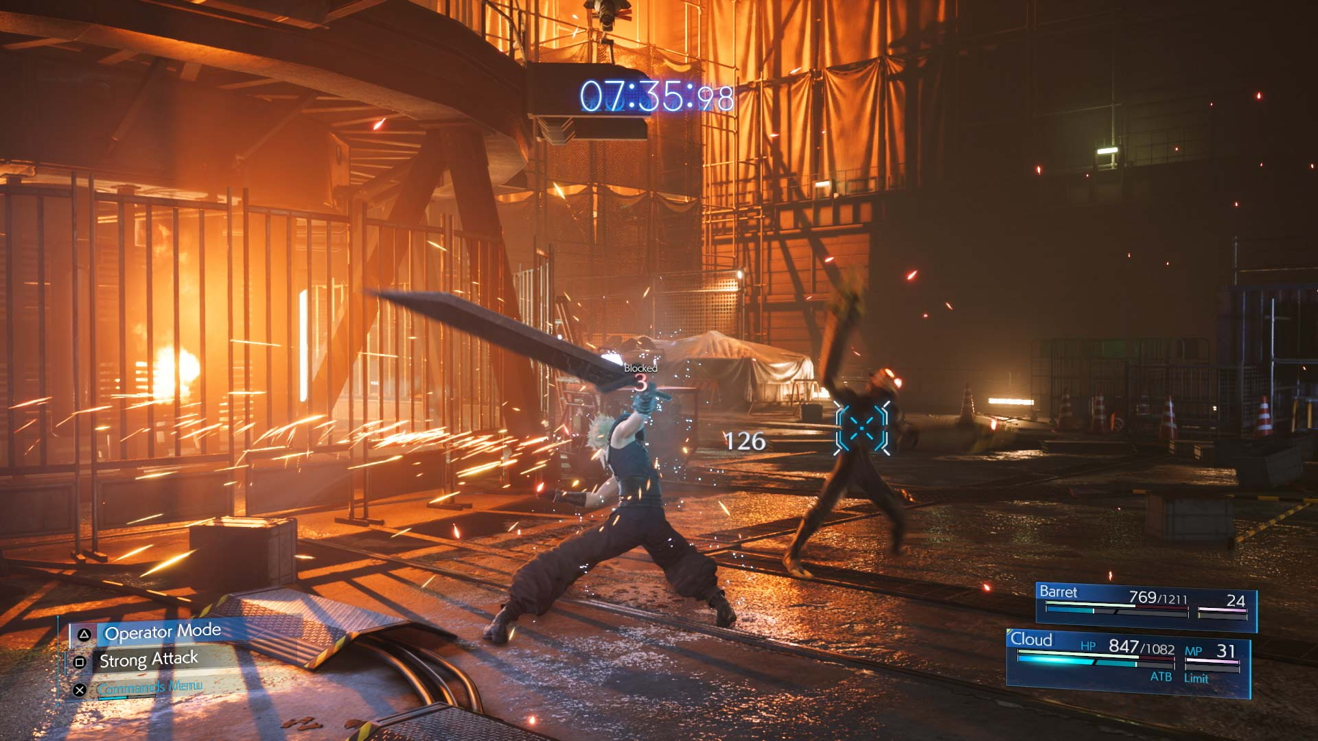 Final Fantasy VII Remake Intergrade combat