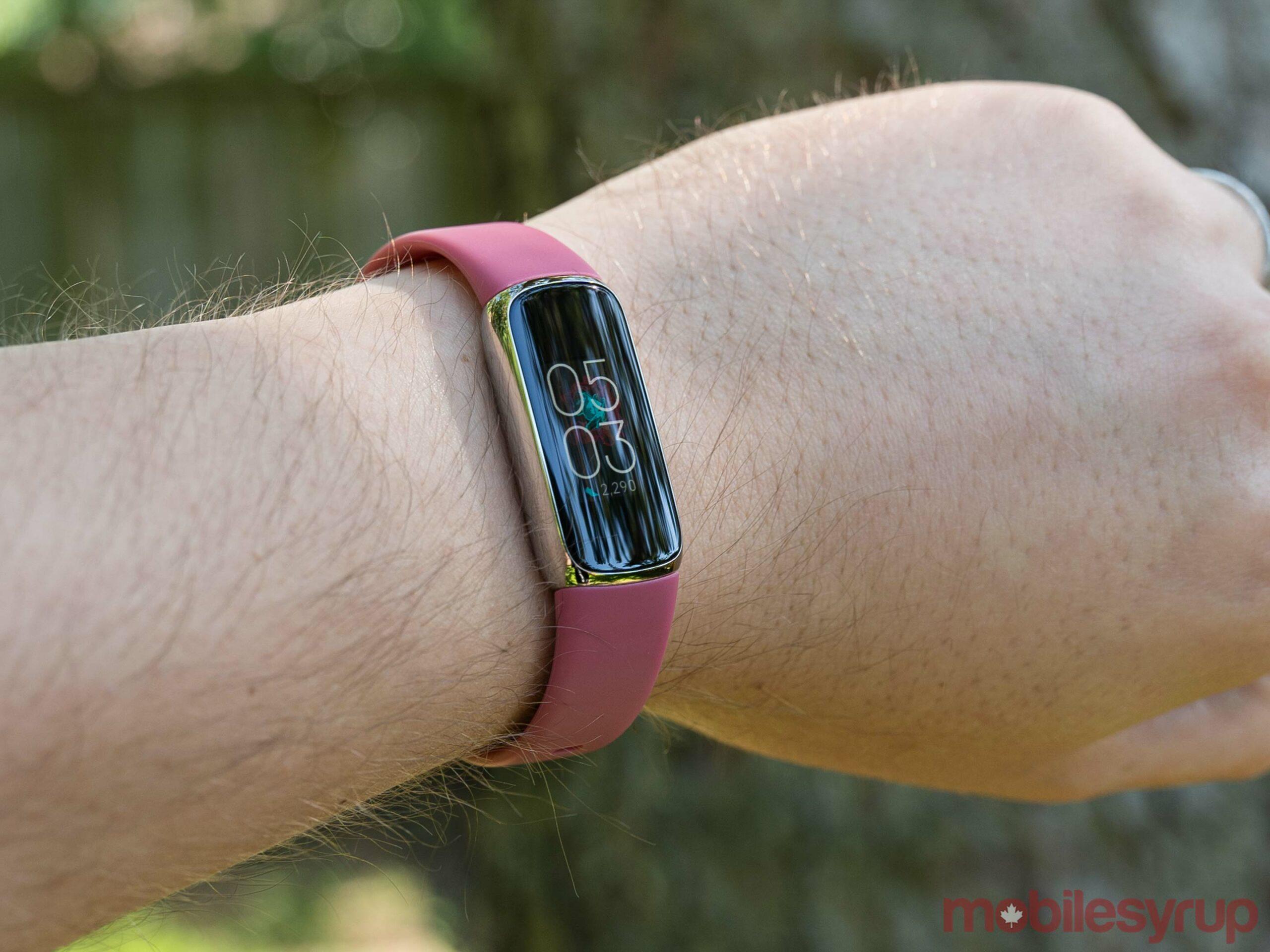 Fitbit Luxe on wrist