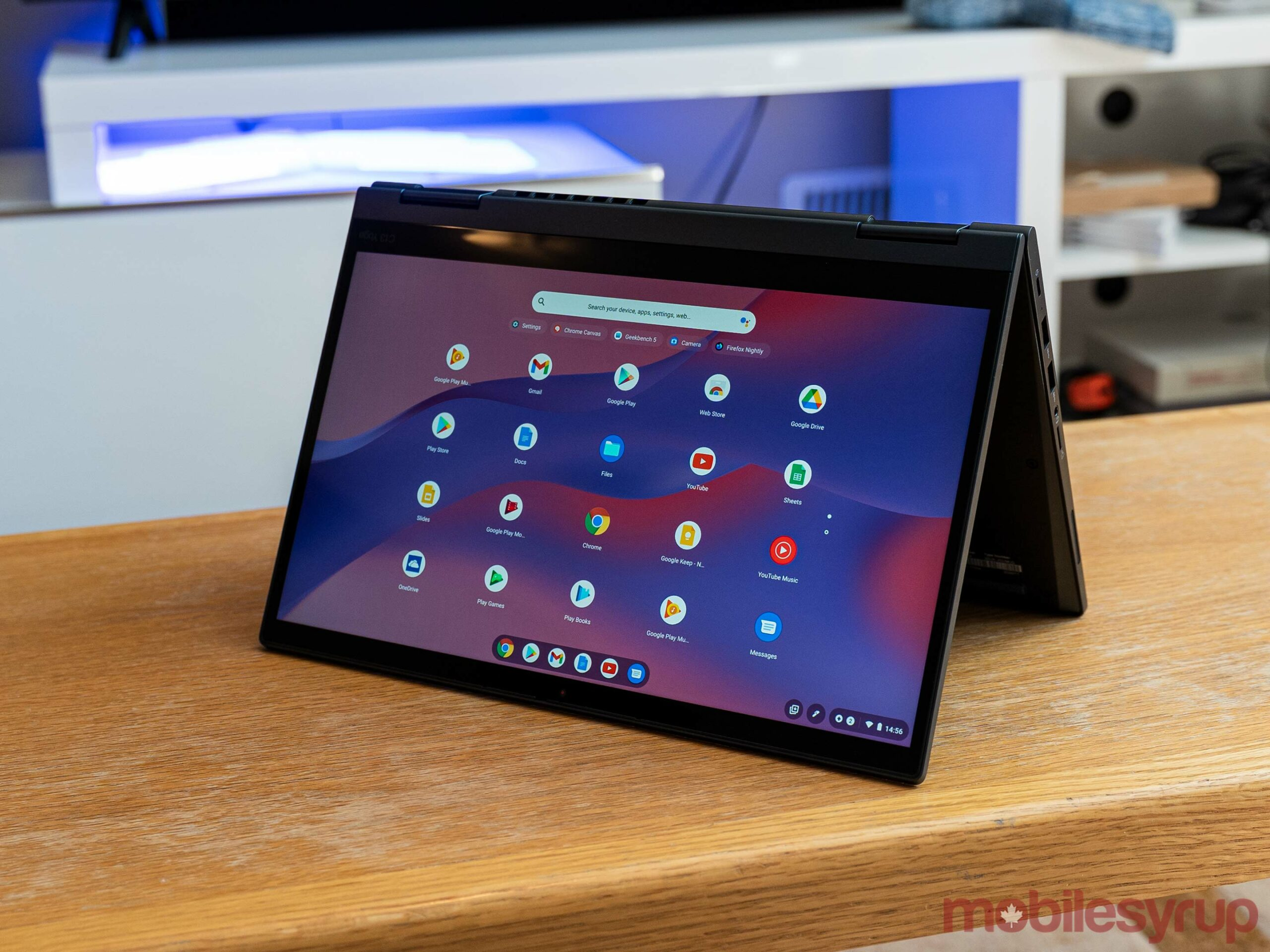 Lenovo ThinkPad C13 Yoga Gen 1 in tent mode