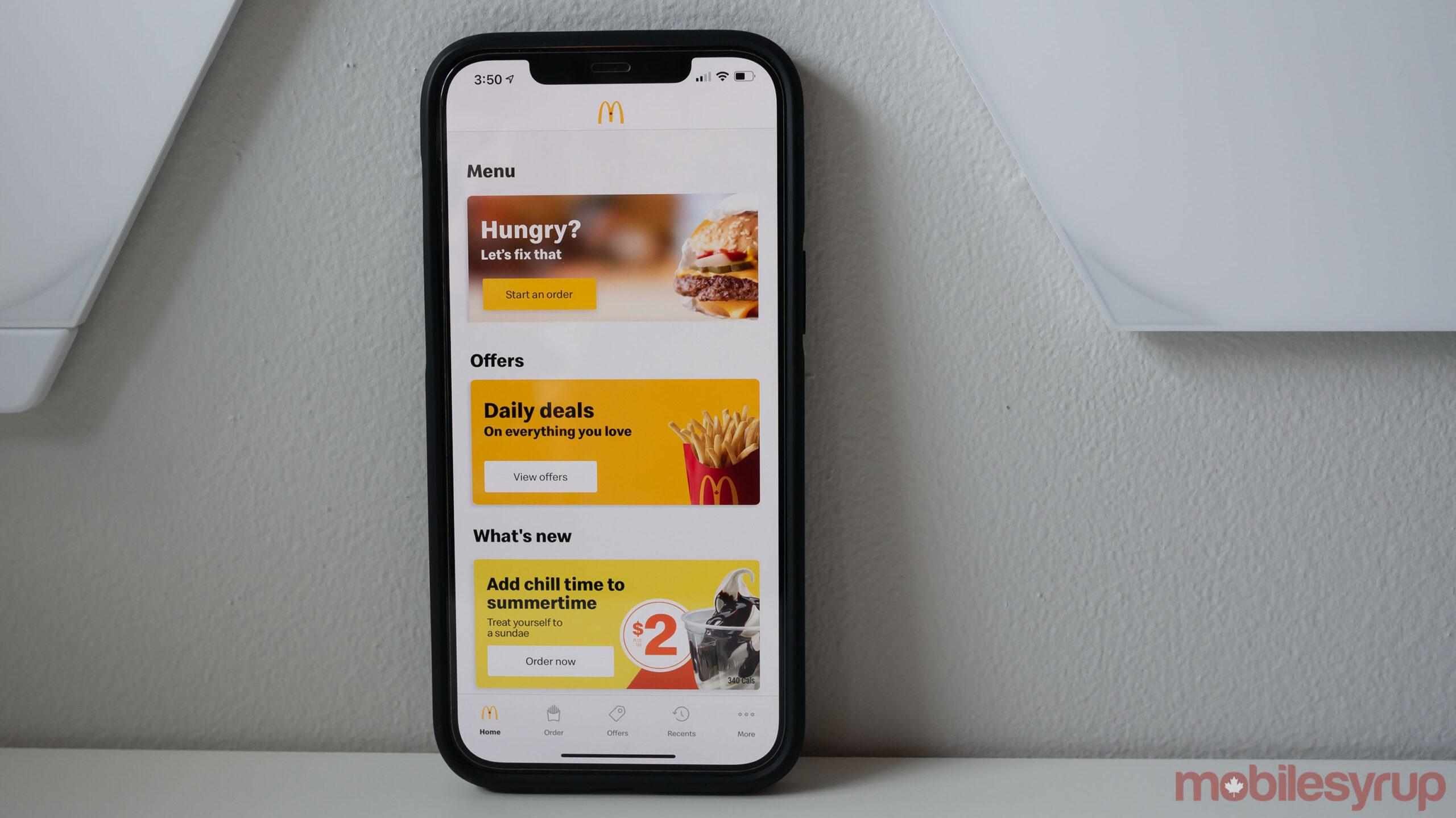 McDonald's Canada app