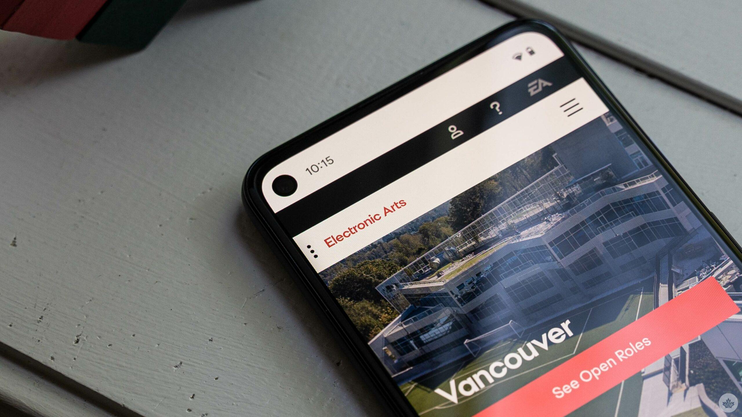 EA Vancouver website