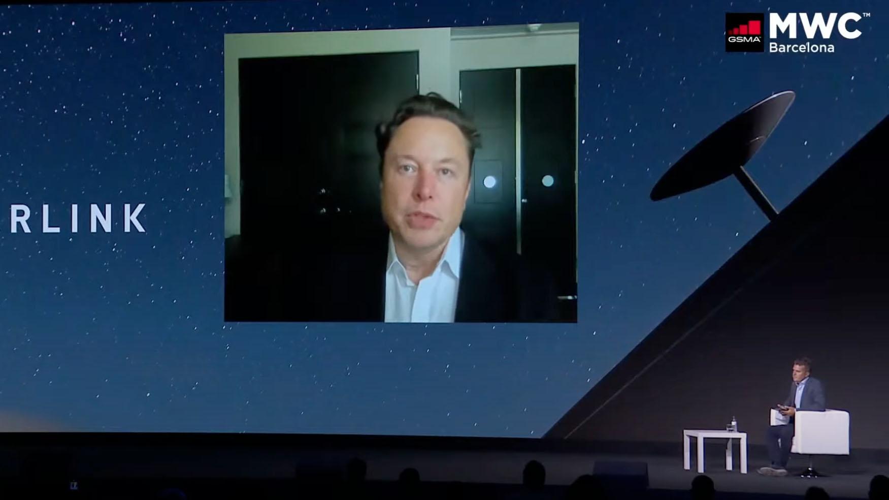 Elon Musk at MWC