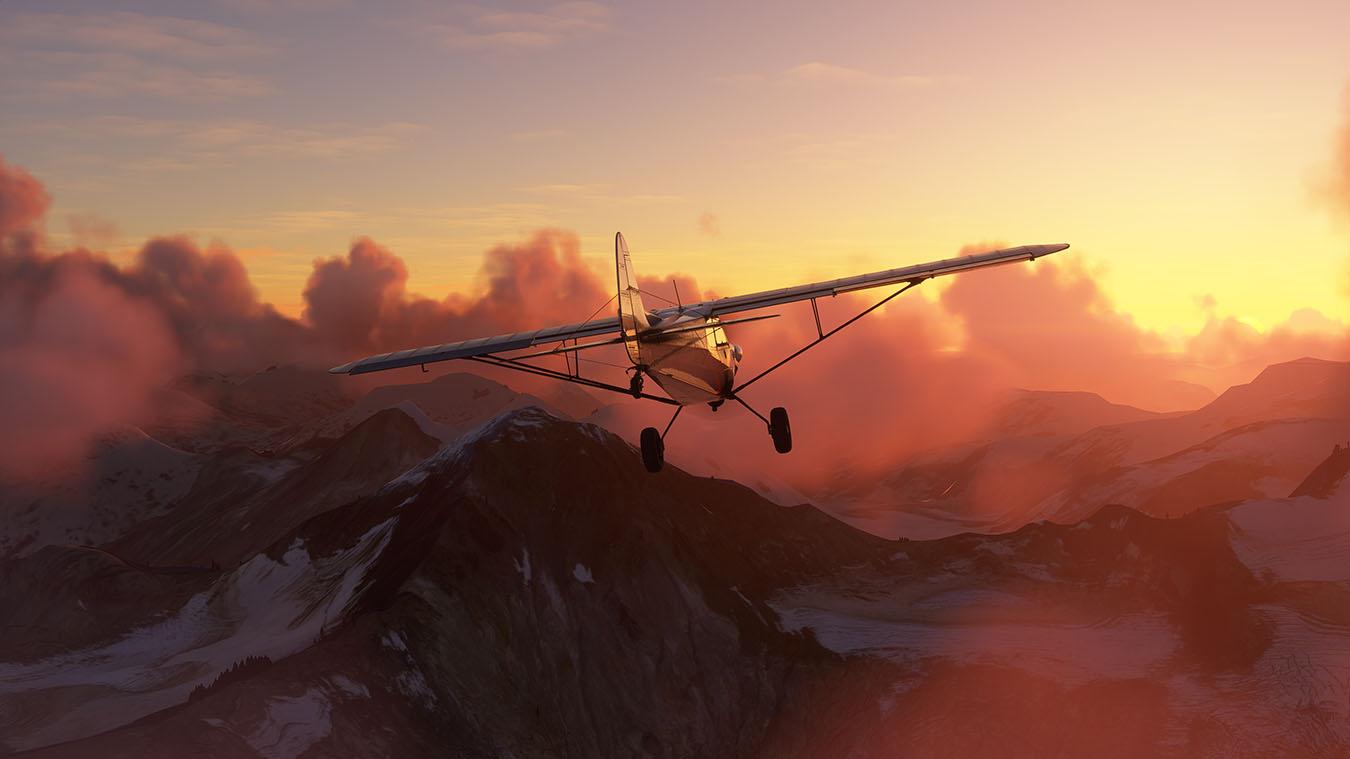 Microsoft Flight Simulator sky