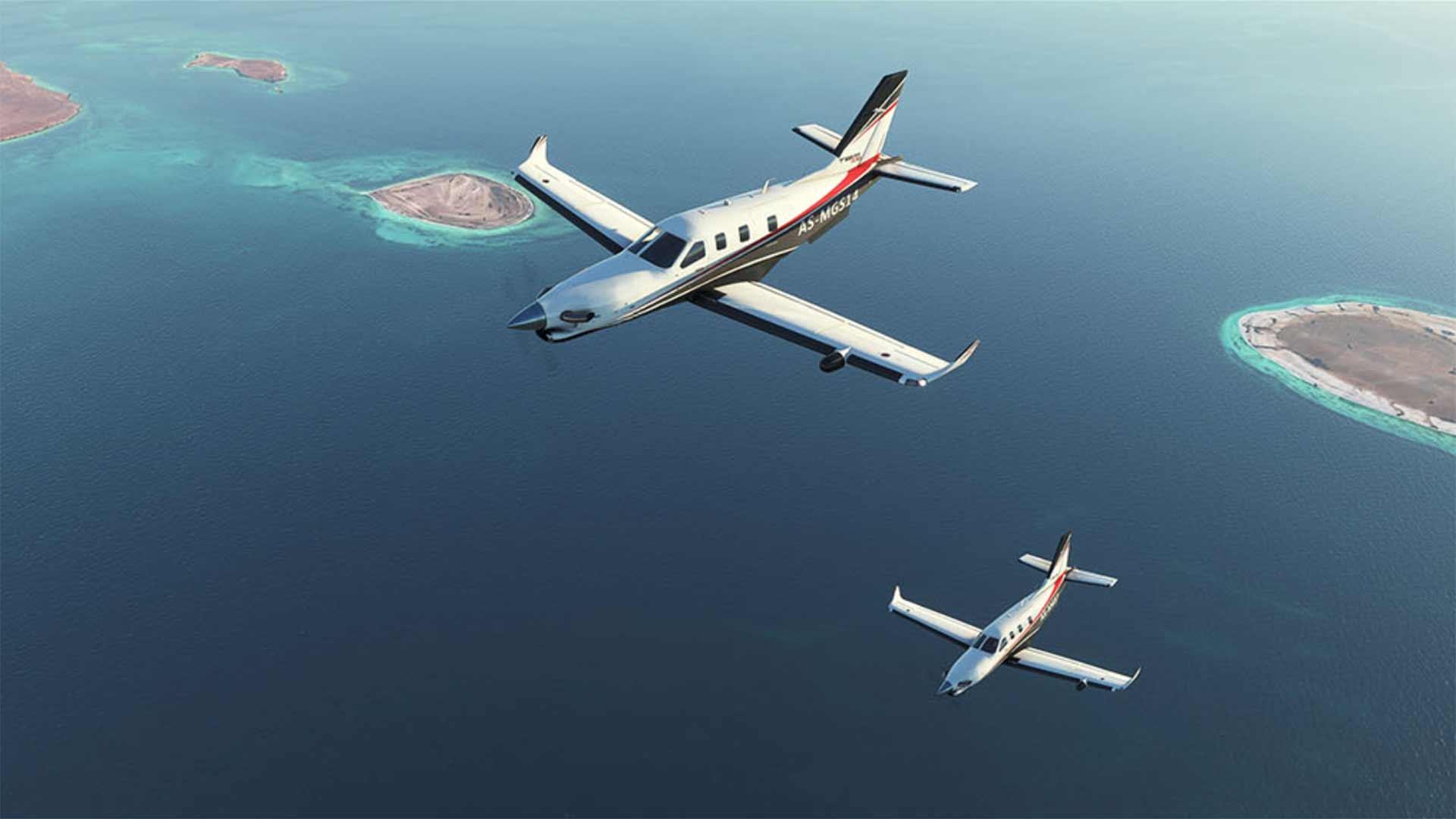 Microsoft Flight Simulator two planes
