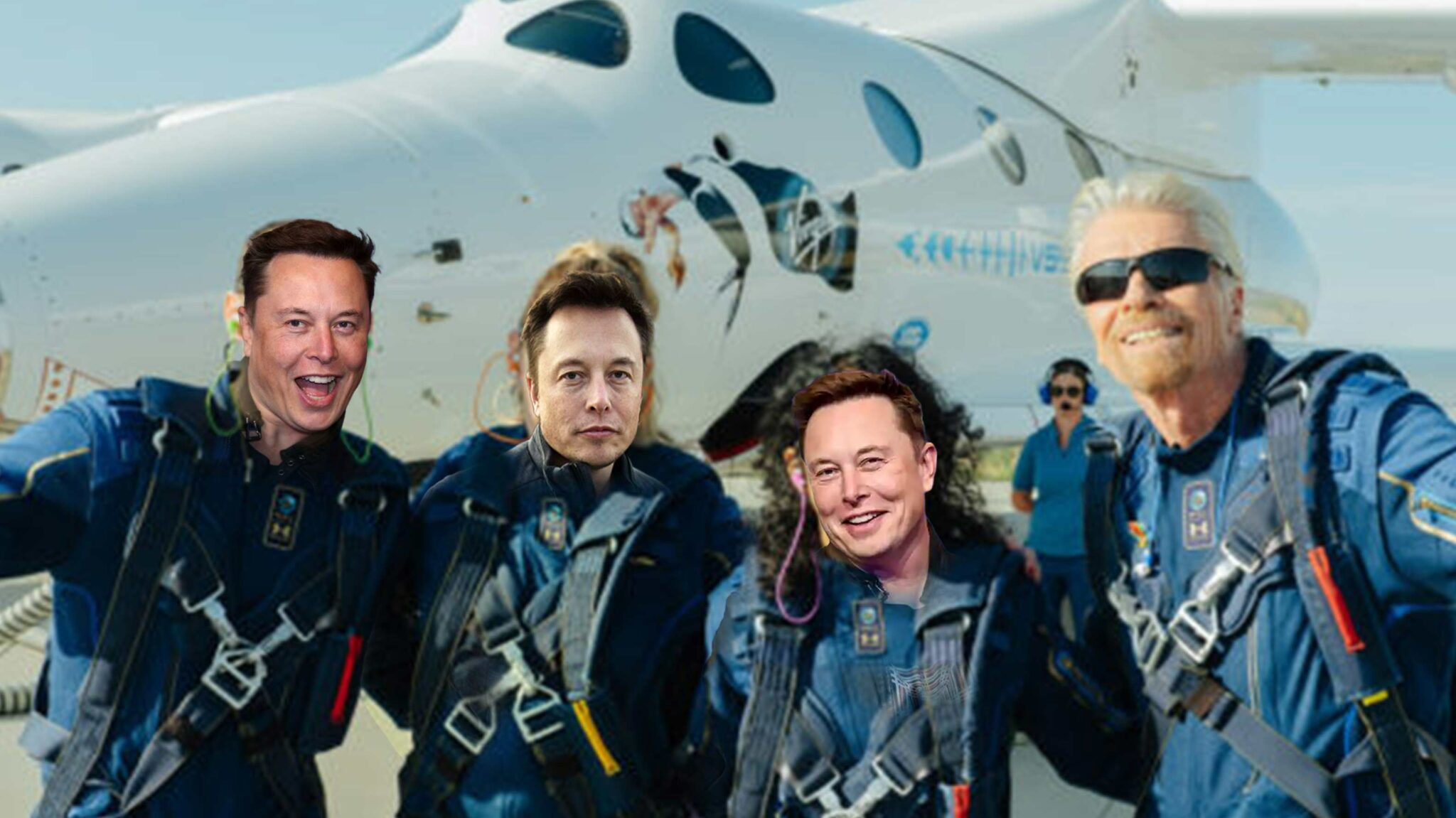 Elon Musk is going to space, but not in a SpaceX rocket