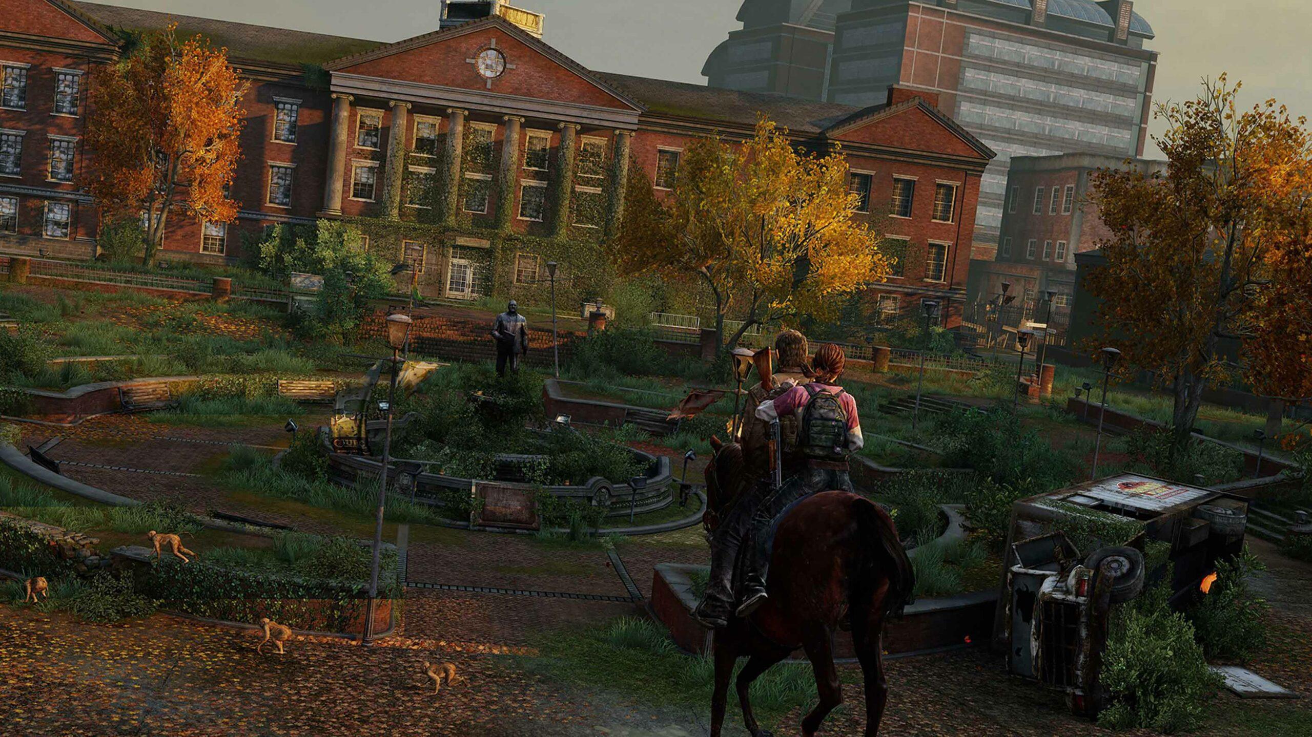 The Last of Us Joel and Ellie horseback