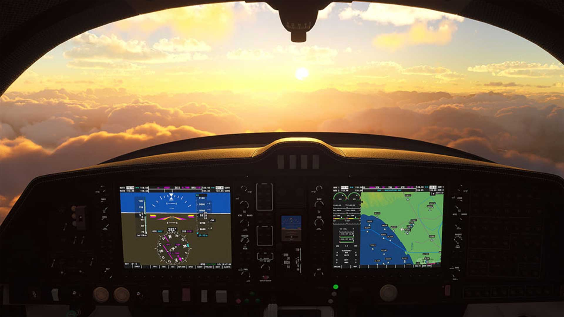 Microsoft Flight Simulator cockpit