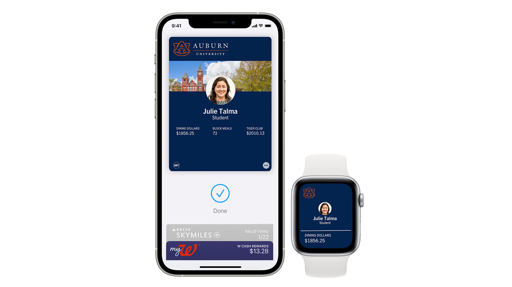 iPhone and Apple Watch Student ID