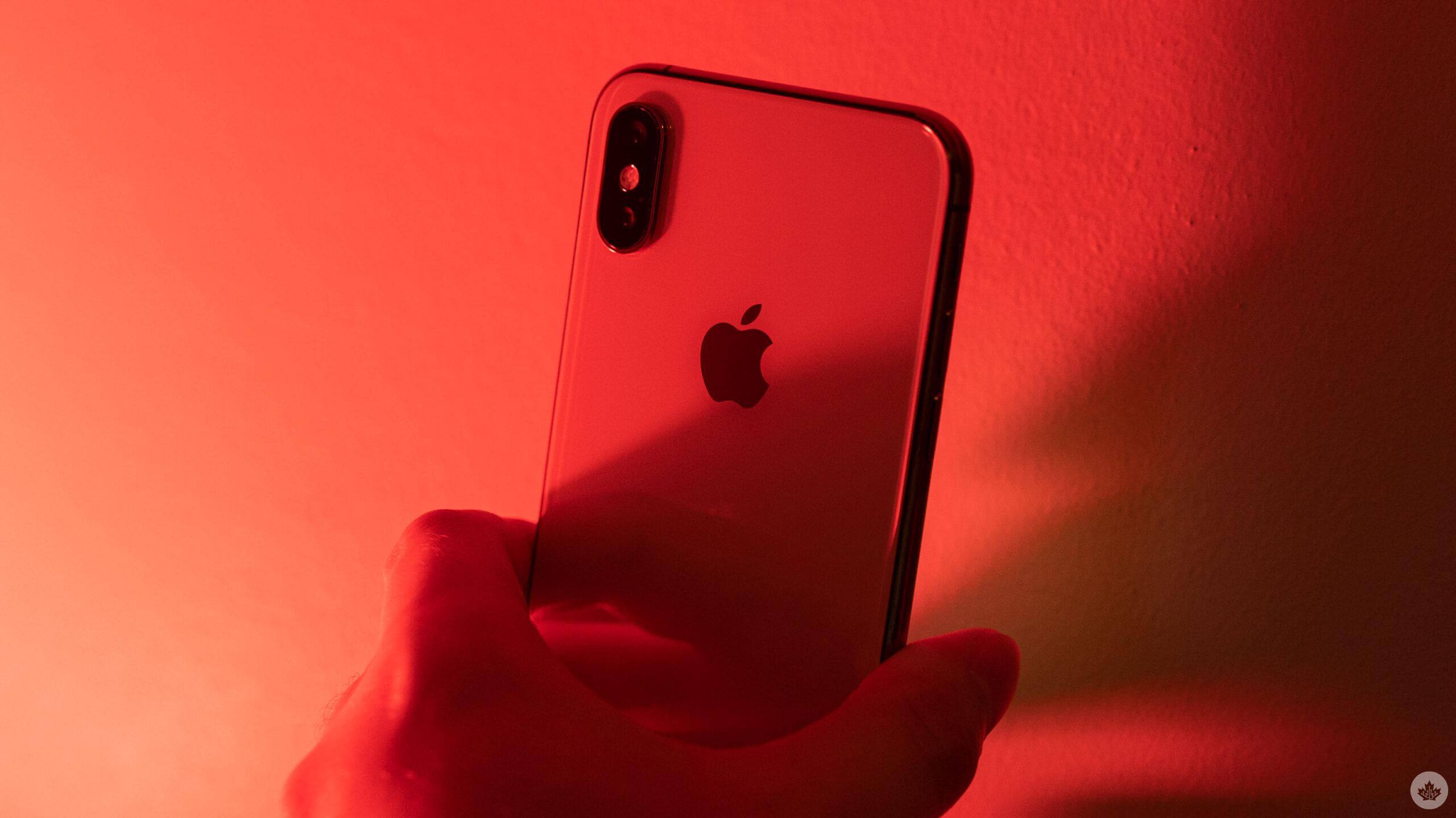 Apple logo on an iPhone