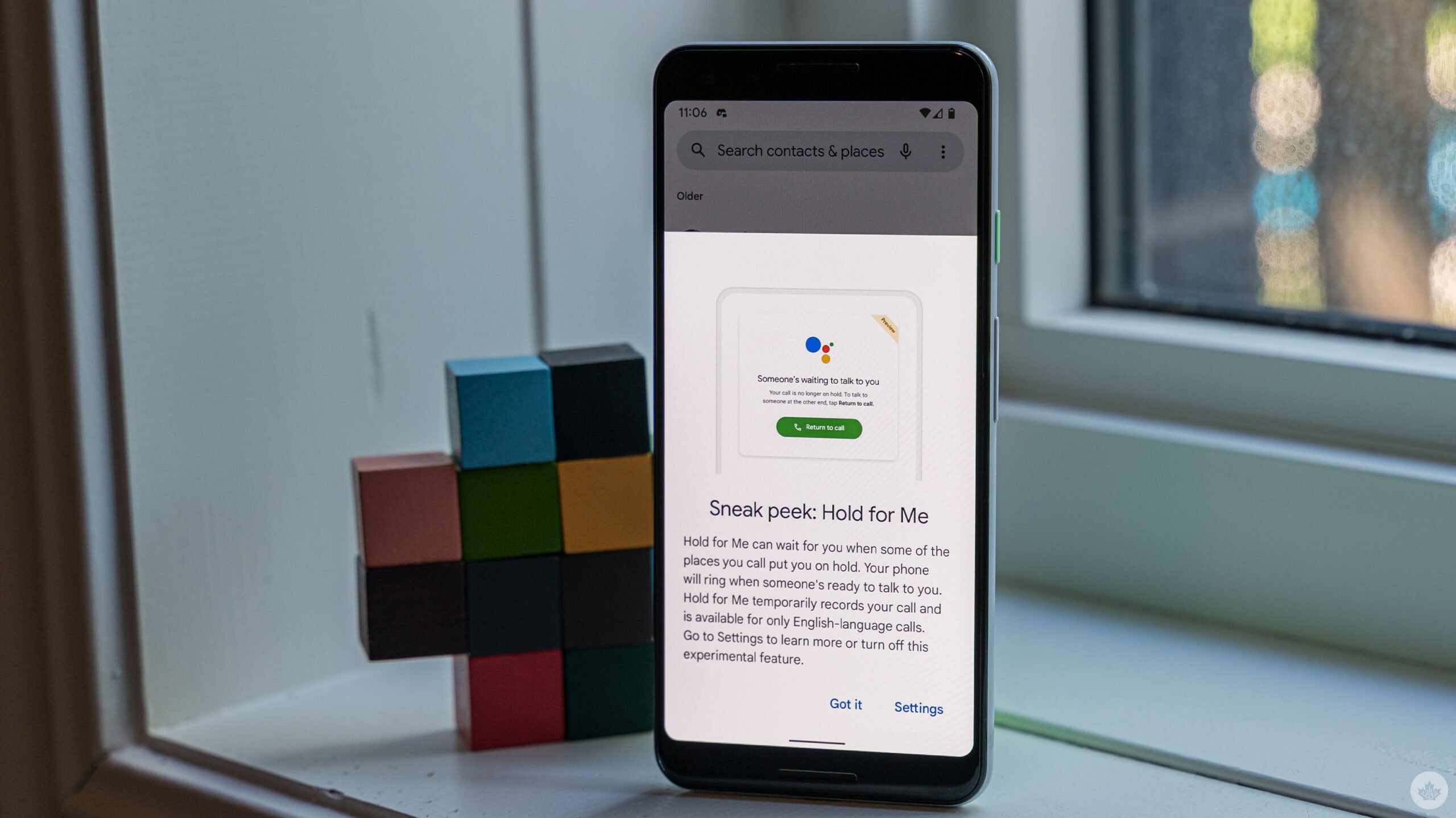 Hold for Me on a Pixel 3