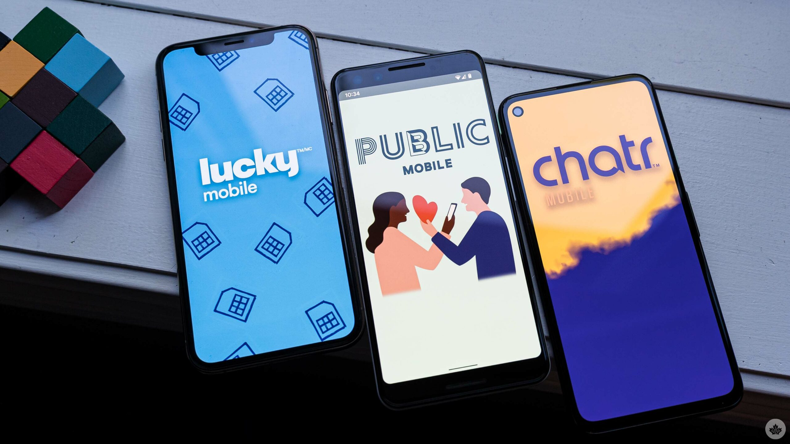 Lucky, Public and Chatr on phones