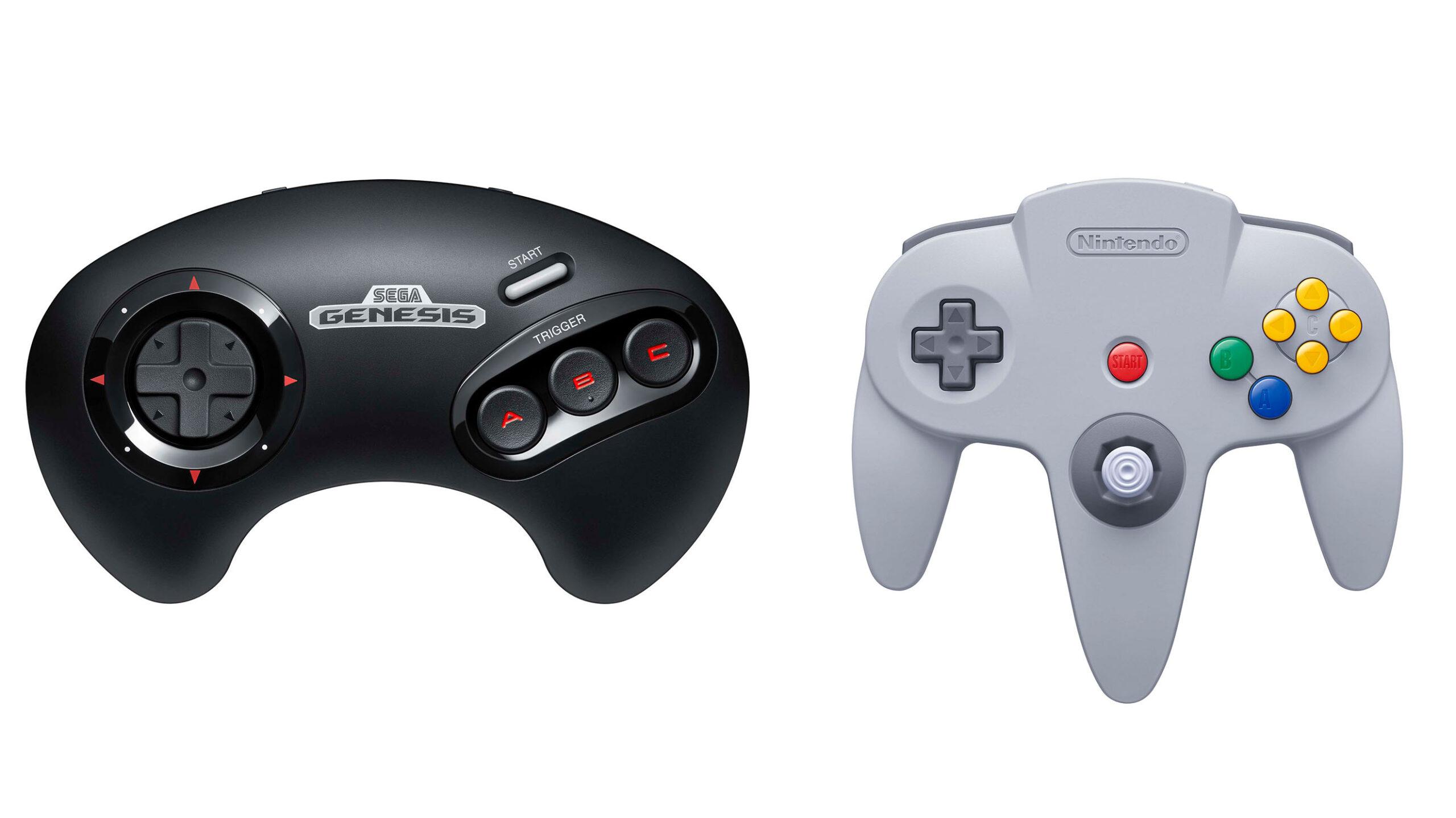 Nintendo 64 and Sega Genesis Switch controller