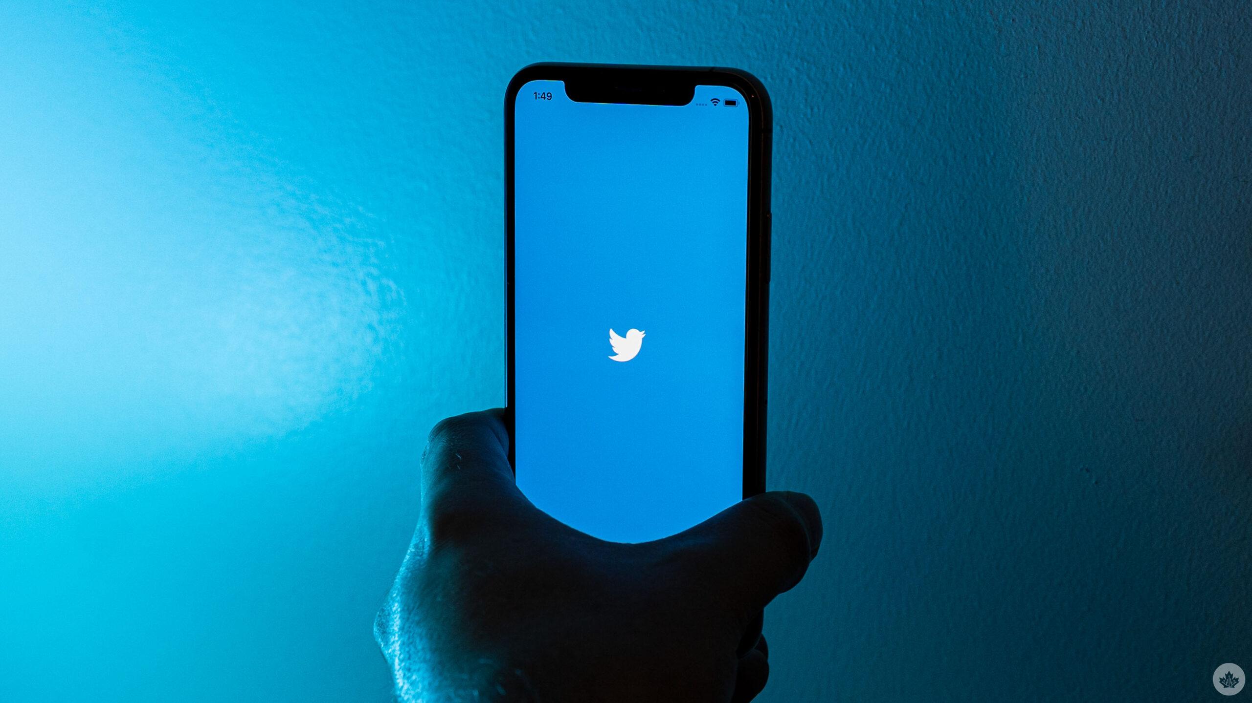 Twitter logo on iPhone